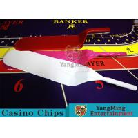 Texas Standard Shape Casino Game Accessories Shovel Suitable For Cards / Chips Manufactures