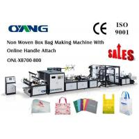 Cheap Carry Bag Manufacturing Machine / Non Woven Bag Making Machine Approved CE for sale
