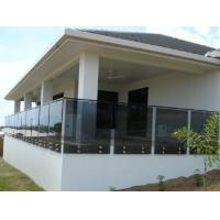 Balustrade Railing Glass Grey 16.76 mm Thickness Low Maintenance Manufactures