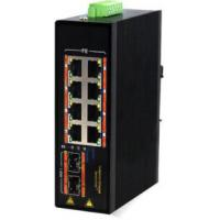 2 SFP 1000M Fiber Port Managed PoE Switch 8 Port 1000M Fanless Energy Saving Manufactures