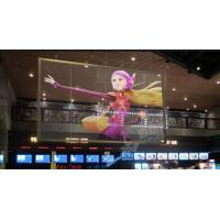 Video Large Outdoor Transparent Glass LED Screen 5MM Pixels Brightness ≥ 7000nits Manufactures