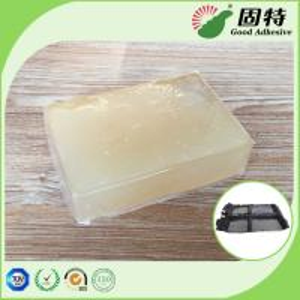 Cheap Pressure Sensitive Industrial Hot Melt Glue , Milk Yellow Car Trim Adhesive Hot Melt for sale