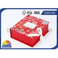 China Popular Design Printed Luxury Paper Gift Box , Red Flat Pack Gift Set Fold Paper Box on sale