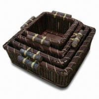 Wooden Basket, Various Sizes, Colors and Shapes are Available, Can Be Used as Gift Manufactures