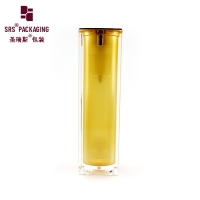 China 1oz acrylic square paint color skin care lotion airless pump bottles on sale