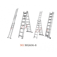 Non Insulated 7.34m 3x11 Portable Folding Ladder Manufactures