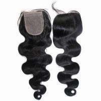 Brazilian Virgin Hair Silk Base Top Closure, Various Textures, Available in Light Brown Lace Manufactures