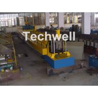 Chain Transmission Top Hat Profile Cold Roll Former Machine With 15 Roll Stations Manufactures