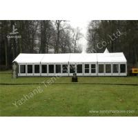 White Fabric Top Outdoor Event Tent , Aluminum Profile Hard Glass Wall Tent Manufactures
