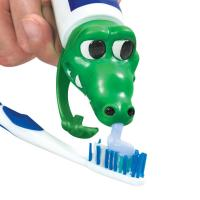 Quality PVC Spread Heads Toothpaste Caps Toy Cat Head With Cartoon Patterns for sale