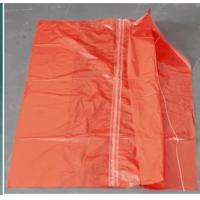Red Color Water Soluble Laundry Sacks Cold Water Soluble Bags With Strip CE ISO Manufactures