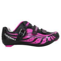 Breathable Ladies Road Cycling Shoes Bright Color Printed Low Wind Resistance Manufactures