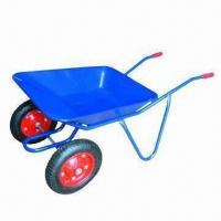 Twin-wheel Wheelbarrow with 100kg Loading Capacity Manufactures