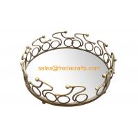 China Factory Nice Mirror Tray With Metal  Decorated Frame in Various Size and Colors Manufactures