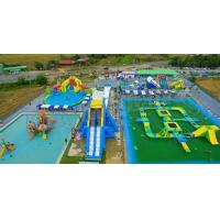 Outdoor Adults Giant Inflatable Water Parks , Floating Playgrounds Customized Logo Manufactures