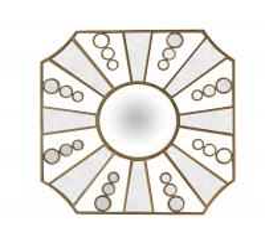 Factory Direct Price Elegant Design Metal Decorative Mirror With Middle Convex Mirror Manufactures