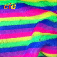 Knitted Colorful Faux Fur Fabric 500-1000 G/M Flame Retardant Anti Static Manufactures