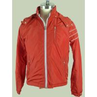 Anti Pilling / Windproof Orange  Custom Sport Jackets For Men Manufactures