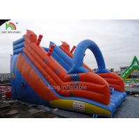 Red Blue PVC Tarpualin Inflatable Dry Slide Puncture - Proof For Kindergarten Manufactures