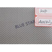 0.1 - 5mm Wire Dia Twill Weave Wire Mesh , Copper / Nickel / Stainless Steel Wire Netting Manufactures