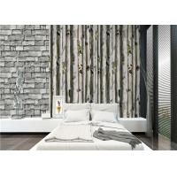 China Grey birch tree home 3d wallpaper / no toxic Living Room Wallpaper Heat insulation on sale