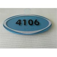 "Oval ADA Room Signage Number Signs One Piece 1/4"" Acrylic Panel With Braille Manufactures"