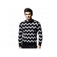 Buy cheap Jacquard Pattern Mens Round Neck Long Sleeve Pullover Sweaters For Spring from wholesalers