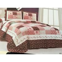 China Burgundy Color Home Bed Quilts Modern Technics With Matched Printed 240x260cm on sale