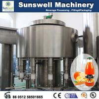 Stainless Steel Hot Filling Machine Automatic For Orange Juice Manufactures