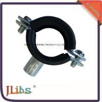 Cheap Heavy / Light Pipe Pipe Strap Clamp Cast Iron Welding Type Clamps M8 + 10 With Rubber for sale