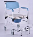Elderly Adjustable Bath Seat Chrome Steel Folding Backrest Toilet Commode Chair Manufactures