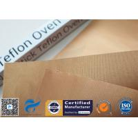 FDA 0.2mm Copper Non Stick Mats For Cooking / BBQ Grill PTFE Oven Pan Liner Manufactures