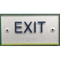 Silver ADA Exit Sign Clear Grade II Braille Raised Text / Graphic With OEM Manufactures