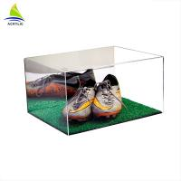 Custom Made Clear Acrylic Shoe Storage Box With Cover Eco - Friendly Manufactures