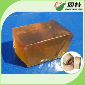 Cheap Yellow Transparent Block Hot Melt Glue Adhesive Pressure-Sensitive Melt Adhesive Kraft Paper Tape for sale