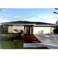 Prefabricated Light Steel Prefab Bungalow Homes / Bungalow House For Living Manufactures