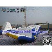 Floating Inflatable Totter Revolution , Inflatable Water Park Games For Adults Manufactures
