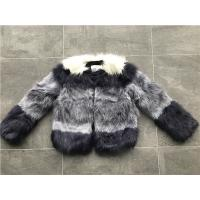 Short Style Violet Ombre Ladies Fake Fur Coats Collarless Fashion Design Manufactures