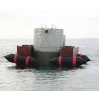 China Marine Floating Structure Installation Airbags With Black Rubber material on sale