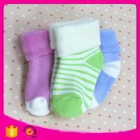 2017 Cotton95% Spandex5% 11*12cm 20g Wholesale Cheap Cotton Striped Christmas Baby Winter Children Socks Manufactures