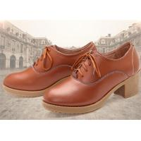 Leather Thick Comfortable Casual Shoes High Heel With Lace Korean Leisure Comfort Autumn Manufactures