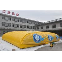 China Exciting Outdoor Inflatable Sports Games Inflatable Jump Air Bag For Skiing , Bike Jump Air Bag Stunt on sale