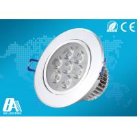 Energy Saving Led Ceiling Downlights Ac 85v - 265v 560LM White Ceiling Lights Manufactures