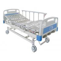 China Three function Manual Patients Adjustable Bed Hospital Furniture With Central lock on sale