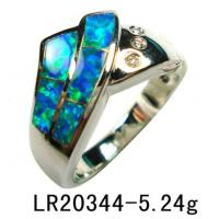 China 925 Silver Opal Ring Yr00226 on sale