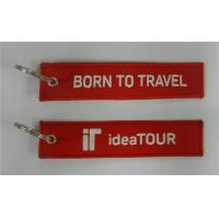 China Born To Travel Idea Tour Embroidered Keychain with Customized Embroidered Logo, Accept Any on sale