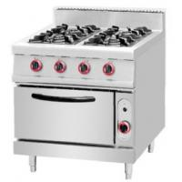 Cheap CE Gas Range Chinese Cooking Equipment With 4 - Burner & Oven for sale