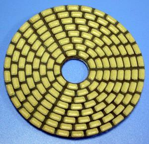 China 4 inch angle grinder polishing pads diamond sponge polishing pad on sale
