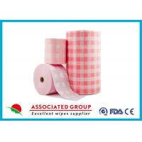 Cheap Pink Soft Lint Free Spunlace Nonwoven Fabric Eco Friendly , Colorful Printed for sale