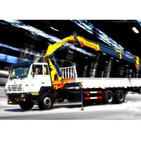 Cheap Durable 8T Knuckle Boom Truck Mounted Crane , 40 L/min Truck With Crane for sale